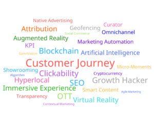 digital marketing buzzwords 2018