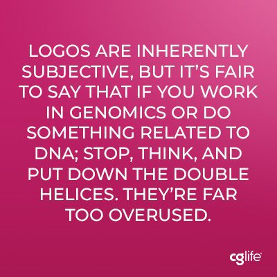 Logos are inherently subjective, but it's fair to say that if you work in genomics or do something related to DNA; stop, think, and put down the double helices. They're far too overused.