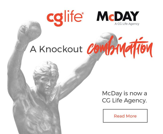 A Knockout Combination! McDay is now a CG Life Agency