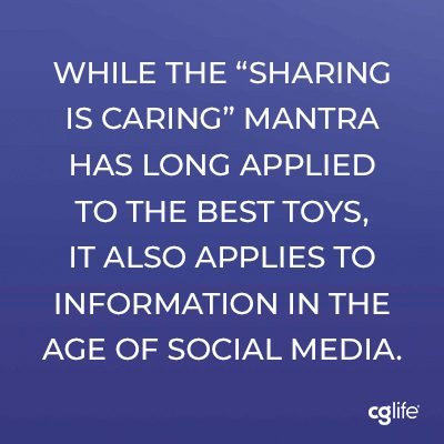 """While the """"sharing is caring"""" mantra has long applied to the best toys, it also applies to information in the age of social media."""