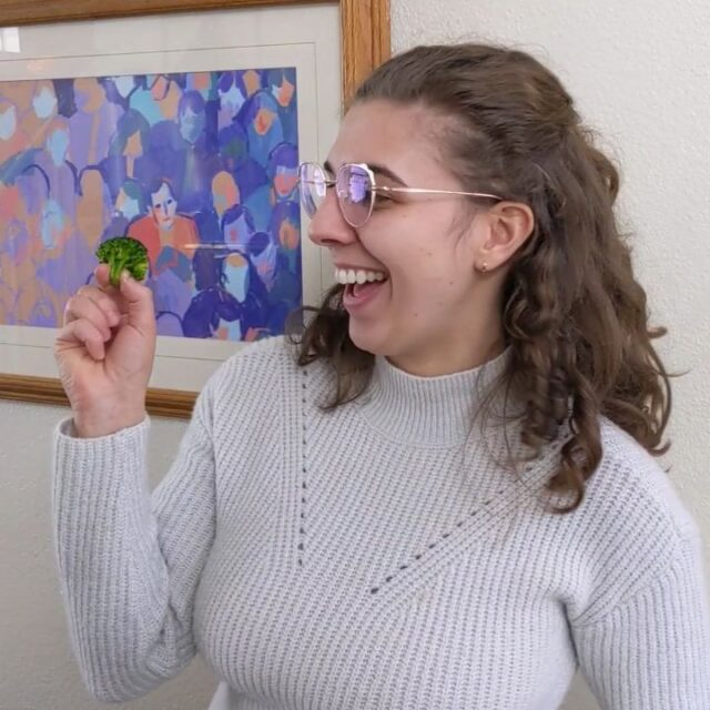 Why is Content Intern Dena @danielleydena dancing with a broccoli and a cucumber? Because we're all getting to know each other this month with a series of fun facts quizzes including: if you were a vegetable, which would you be any why?  So what's your veggie?  #CGLife #FunAtWork #Veggies #WFH