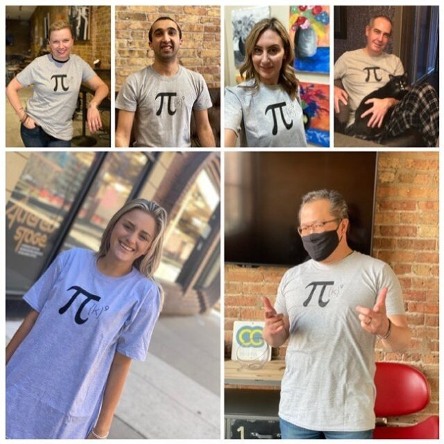 This year for #PiDay some of us run, some of us walk, some of us sit on the couch with a kitty on our lap. 😸But we 💯 support #PiKFunRun2021 and @illinoissciencecouncil 🙌  If you haven't registered yet, there's still time - Pi Day is this Sunday, 3.14. 🙂