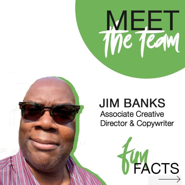 An international poet and drummer? Is there anything he can't do?! Swipe 👈 to learn more fun facts about our Associate Creative Director and Copywriter, Jim Banks!  #funfactfriday